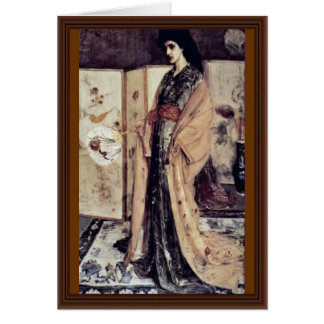 La Princesse Du Pay De La Porcelaine By Whistler J Greeting Card