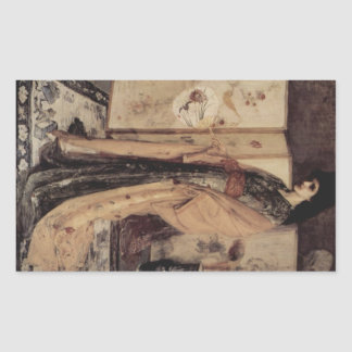La Princesse you Pay de la Porcelaine by Whistler Rectangular Sticker