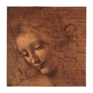 La principal femenino Scapigliata de Leonardo da V Posavasos