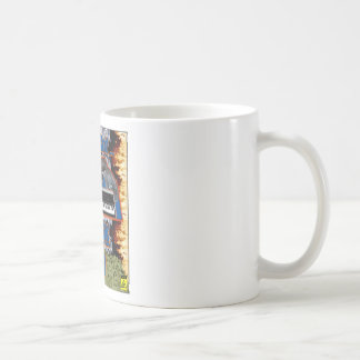 La prisa conseguida bate la taza de café del vol.