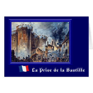 La Prise de la Bastille Card