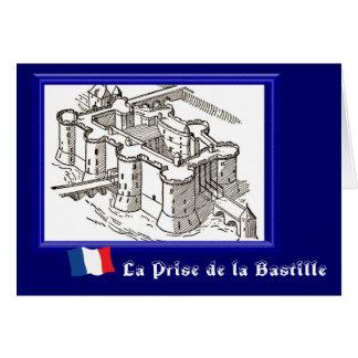 La Prise de la Bastille Tarjeta De Felicitación