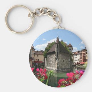 La prisión de Annecy, Francia Llavero Redondo Tipo Pin