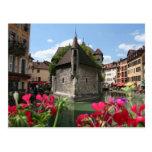 La prisión de Annecy, Francia Tarjeta Postal