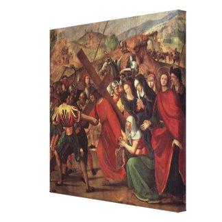 La procesión al Calvary, c.1505 Impresión En Lona