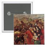 La procesión al Calvary, c.1505 Pin Cuadrado