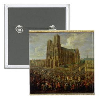 La procesión de rey Louis XV Pin Cuadrada 5 Cm