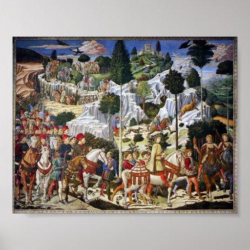 La procesión de unos de los reyes magos posters