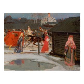 La procesión del boda tarjeta postal