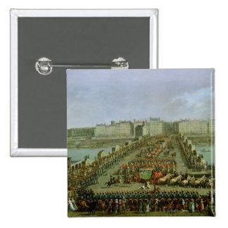 La procesión imperial pin cuadrado