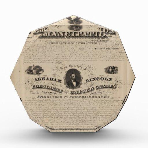 la proclamación de la emancipación