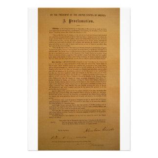 La proclamación de la emancipación compuso tipo de invitacion personalizada