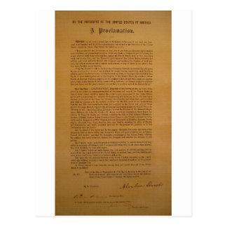 La proclamación de la emancipación compuso tipo de postal