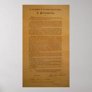 La proclamación de la emancipación compuso tipo de póster