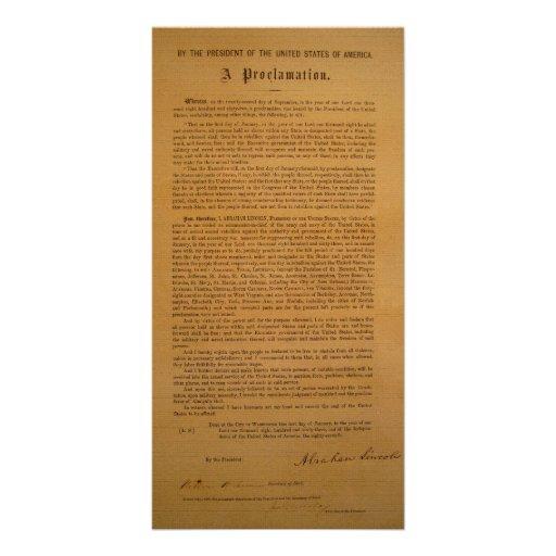 La proclamación de la emancipación compuso tipo de tarjetas fotográficas