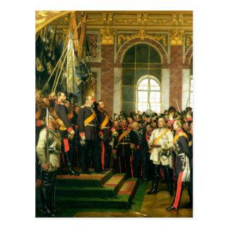 La proclamación de Wilhelm como Kaiser Tarjeta Postal