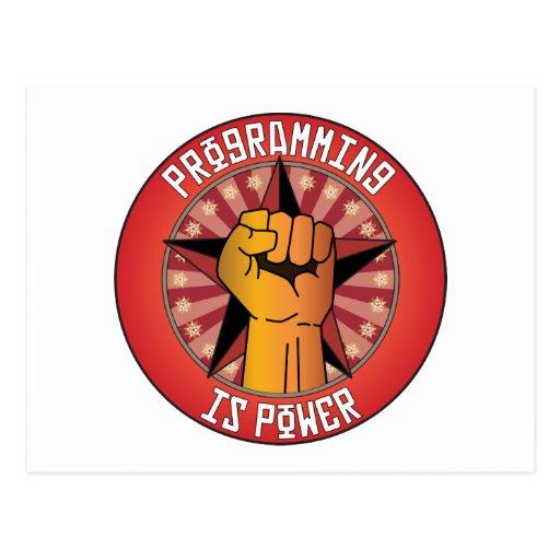 La programación es poder postal