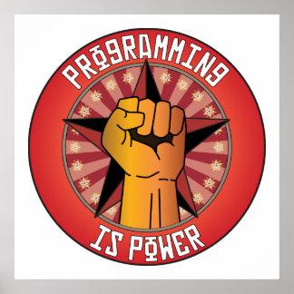 La programación es poder póster