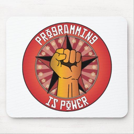 La programación es poder tapete de raton
