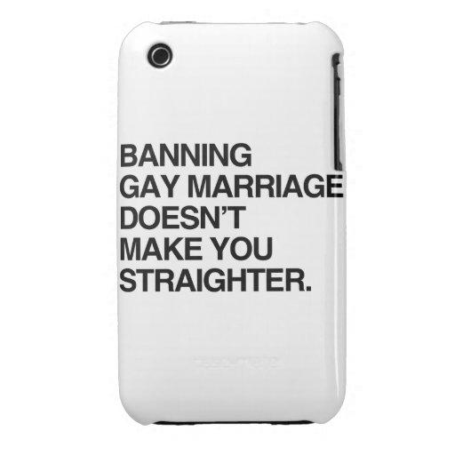 LA PROHIBICIÓN DE MATRIMONIO HOMOSEXUAL NO LE HACE iPhone 3 PROTECTORES