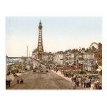 """La """"promenade"""", Blackpool, Inglaterra Tarjetas Postales"""