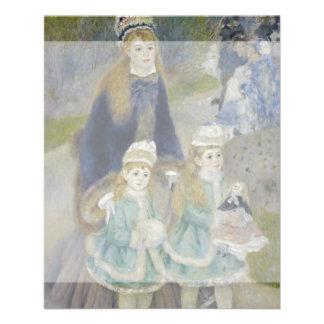 La Promenade by Pierre-Auguste Renoir Flyer