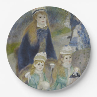 La Promenade by Pierre-Auguste Renoir Paper Plate