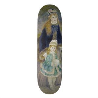 La Promenade by Pierre-Auguste Renoir Skateboard Deck