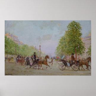 """La """"promenade"""" en el Champs-Elysees Póster"""