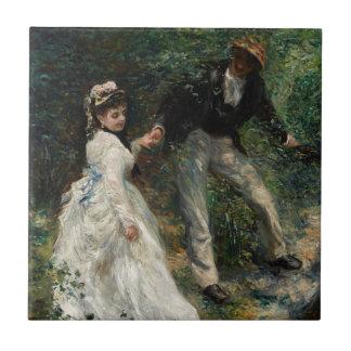 La Promenade Renoir Impressionism Painting Art Ceramic Tile