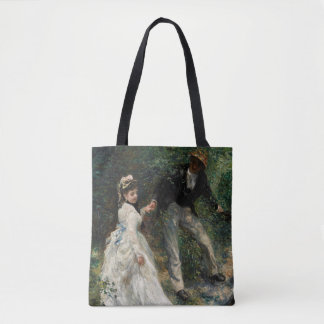 La Promenade Renoir Impressionism Painting Art Tote Bag
