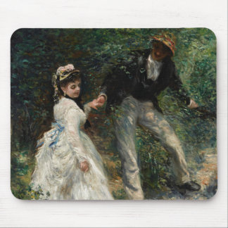 La Promenade Renoir Painting Fine Art Mousepad