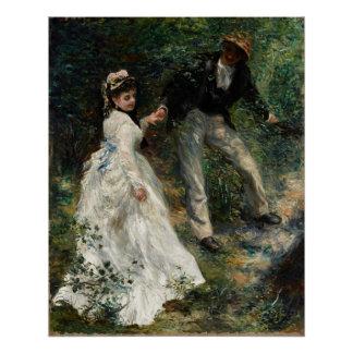 La Promenade Renoir Painting Fine Art Poster Perfect Poster