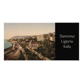 """La """"promenade"""", Sanremo, Liguria, Italia Tarjeta Fotográfica"""