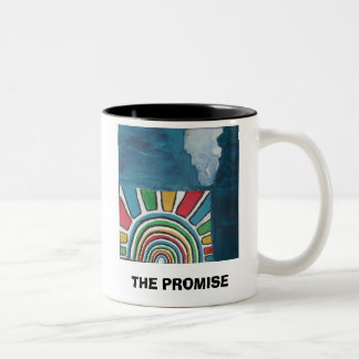 LA PROMESA (con escritura) Taza De Dos Tonos