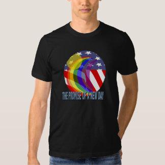 La promesa de una nueva camiseta del día playeras