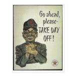 La propaganda japonesa anti tarda día libre tarjeta postal