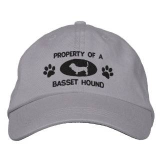 La propiedad de Basset Hound bordó el gorra Gorro Bordado