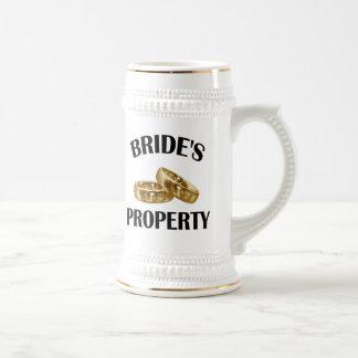 La propiedad de la novia tazas