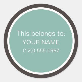 La propiedad personalizada/ésta pertenece a: etiquetas redondas