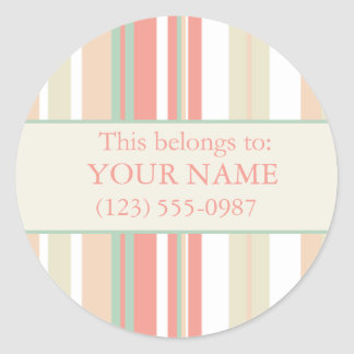 La propiedad personalizada/ésta pertenece a: pegatinas redondas