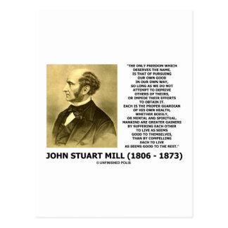 La prosecución de la libertad de John Stuart Mill  Postal