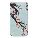 """La """"prosperidad florece"""" las flores de cerezo chin iPhone 4/4S carcasa"""