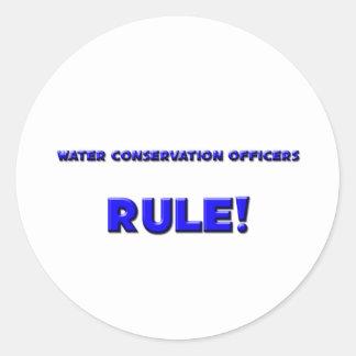 ¡La protección de agua manda regla Etiqueta Redonda