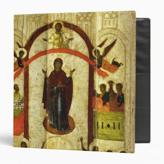 """La protección del icono del ruso de Theotokos Carpeta 1 1/2"""""""