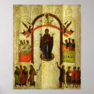 La protección del icono del ruso de Theotokos Poster