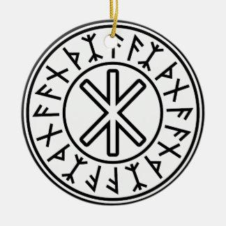 La protección No.2 (negro) de Odin Ornamentos Para Reyes Magos