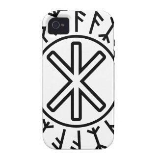 La protección No 2 negro de Odin Vibe iPhone 4 Funda