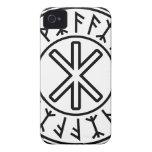 La protección No.2 (negro) de Odin Case-Mate iPhone 4 Cobertura