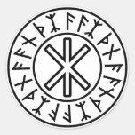 La protección No.2 (negro) de Odin Etiqueta Redonda